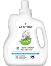ATTITUDE Natural Laundry Softener, With Advanced Deodorizing Power, High Efficiency, Hypoallergenic, Wildflowers, 2 Liters, 80 Loads