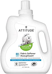 ATTITUDE Natural Laundry Softener, With Advanced Deodorizing Power, High Efficiency, Hypoallergenic, Wildflowe