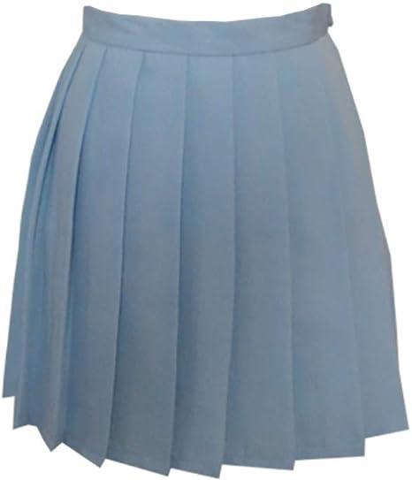 HEHEAB Falda,Blue Chicas Japonesas Faldas Colegialas Falda Plisada ...