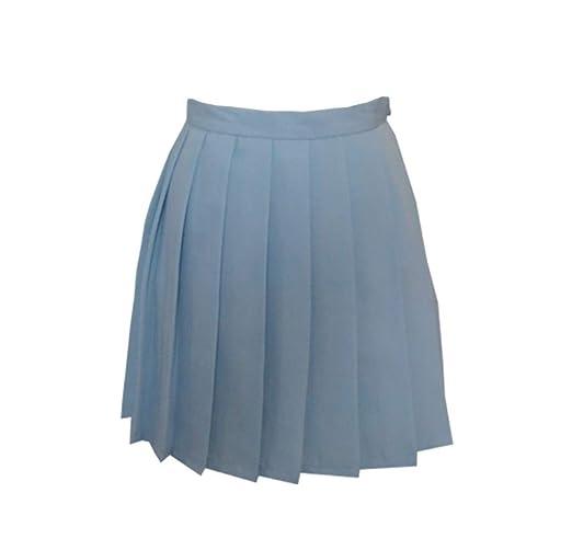 QZBTU Faldas Mujer Faldas De Niñas Colegialas Plisadas Falda ...
