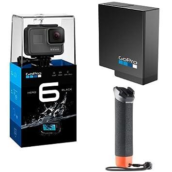 GoPro Hero6, Videocámara de acción, Pack de GoPro The Handler + Batería oficial de