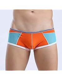 Boxer Shorts Mens Underwear for Men Soft Cotton Trunk Pack of 5 Boxer Briefs,D,L