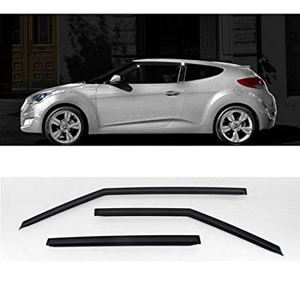 Automotiveapple Smoke Rain Wind Window Guard Visor 3p For 2011 2016 Hyundai Veloster & Turbo