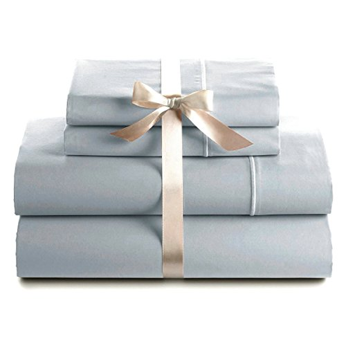 Bluemoon Homes Genuine Premium Egyptian Cotton 1000 Thread Count Italian Finish Silver Grey 4-Piece Sheet Set, 19 inches Deep Pocket, Solid, Size King ()