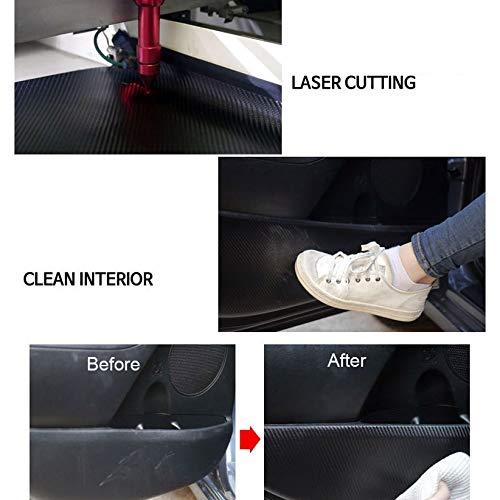 Carbon Fabric Inside Door Panel Scratch Protect Pad 4pcs for 2017-2019 Hyundai IONIQ