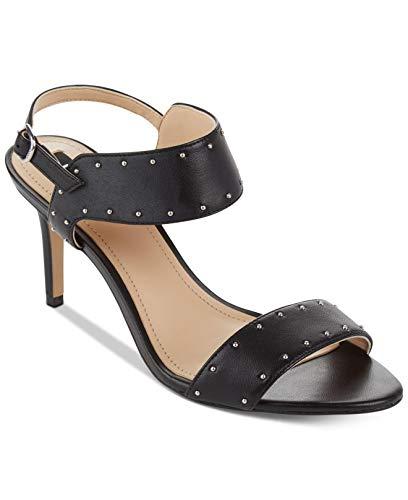 DKNY Womens Seana Leather Open Toe Casual Slingback Sandals, Black, Size 9.0
