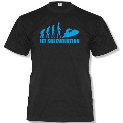 Jet Ski Evolution 2 - Herren Unisex T-Shirt Gr. S bis XXL Diverse Farben