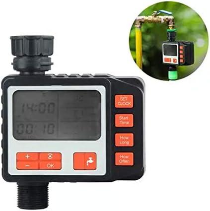 Haoshangzh55 Programmierbare Schlaucharmatur Timer, Automatische Bewässerung Timer Gartenbewässerung-Timer Mit LCD-Display, Automatische Bewässerung Timer