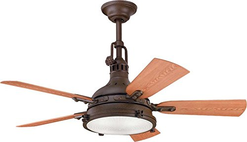 Kichler 310101TZP Patio 44-Inch Hatteras Bay Patio Fan, Tannery Bronze Powder Coat
