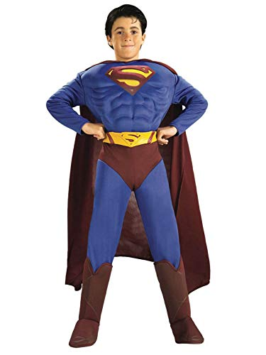 Deluxe Muscle Chest Superman Costume,Small 4-6 from Rubie's
