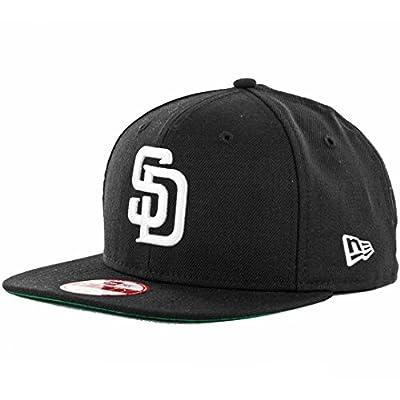 New Era 9Fifty San Diego Padres Snapback Hat (Black/White) Men's Custom Wool Cap
