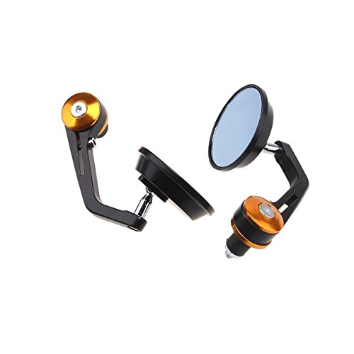 (DLLL Flexible Motorcycle Rear View Back Mirror Handle Bar End 7/8