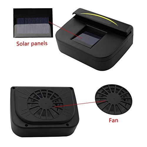 Powered Car Window Windshield Auto Air Vent Cooling Fan System Cooler (Solar Powered Auto Cooler)