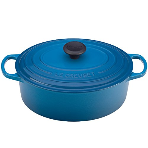 le creuset signature enameled cast iron 5 quart oval french dutch oven marseille old school. Black Bedroom Furniture Sets. Home Design Ideas