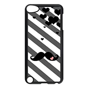 aqiloe diy Custom Your Own Personalized Stripe Mustache Ipod Touch 5th Case, Snap On Hard Protective Mustache Ipod 5 Case Cover