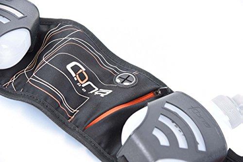 It's running Cona 2-Flask Belt Evolution Trinkgurt Gürteltasche, 99 cm, Black