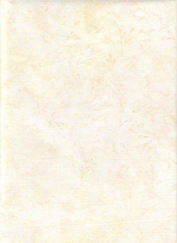 Kaufman Bali Batik - Robert Kaufman Creamy Beige & Cornsilk Blender Batik ~ HALF YARD!! ~ Java Block Printed (Tjap Stamped) Asian Chrysanthemum Flower Bali Tie Dye (Ikat) Batik Gradation ~ Quilt 100% Cotton 44