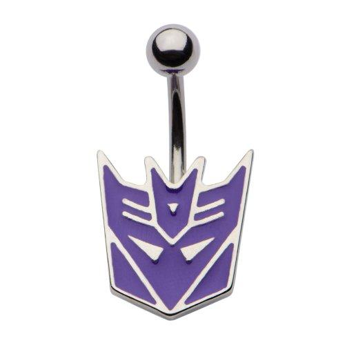 Hasbro Transformers Decepticon Belly Ring 14G (Purple Face)