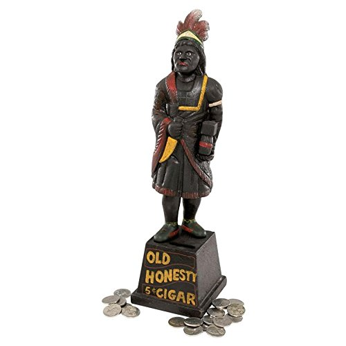 - Design Toscano Cigar Store Indian Foundry Iron Folk Art Bank
