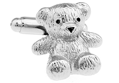 (MRCUFF Teddy Bear Pair Cufflinks in a Presentation Gift Box & Polishing Cloth)