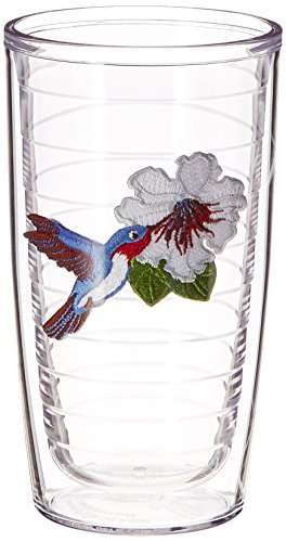 Tervis Tumbler Hummingbirds 16-Ounce Double Wall Insulated Tumbler, Set of 4