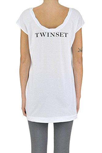 Twin-Set T-Shirt Donna MCGLTPS03067E Cotone Bianco