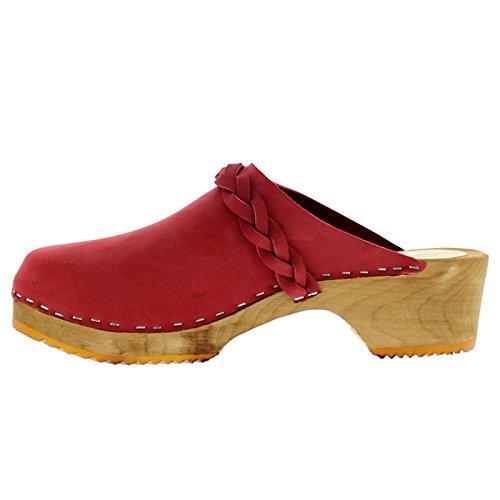 Moheda Womens Emmy Nubuck Sandals Red a4KnGjUI