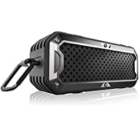 Zealot Outdoor Bluetooth Speaker S6 Wireless Portable Speakers Dual-driver, Built-in Mic, 24-Hour Playtime, Rugged, Waterproof Shockproof, Power Bank , Micro SD Card Players (Black)