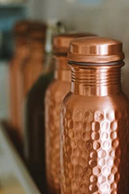 Kosdeg Hammered Copper Water Bottle 34 Oz Extra Large - A Leak Proof Ayurvedic Pure Copper Vessel - Drink More Water, Lower Your Sugar Intake and Enjoy The Health Benefits Immediately