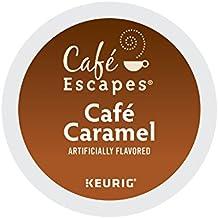 Cafe Escapes Cafe Caramel, Keurig K-Cups, 12 Count (Pack of 6)