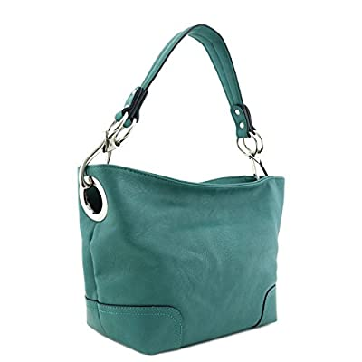 Small Hobo Shoulder Bag with Snap Hook Hardware