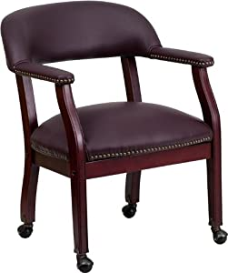 Incroyable Flash Furniture   Burgundy TOP GRAIN Leather Captainu0027s Chair With Casters  [B Z100 LF19 LEA GG]