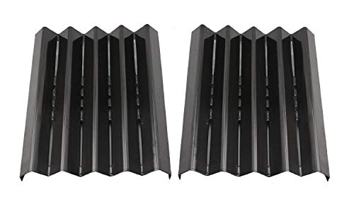 Hongso PPG061 (2-Pack) Porcelain Steel Heat Plate, Heat Shield, Heat Tent, Burner Cover, Vaporizor Bar, and Flavorizer Bar Replacement for Select Kenmore Gas Grill Models (13 1/8 x 10 11/16)