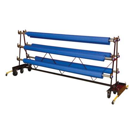 Gym Floor Cover Premier Storage Rack – 6 Rollers