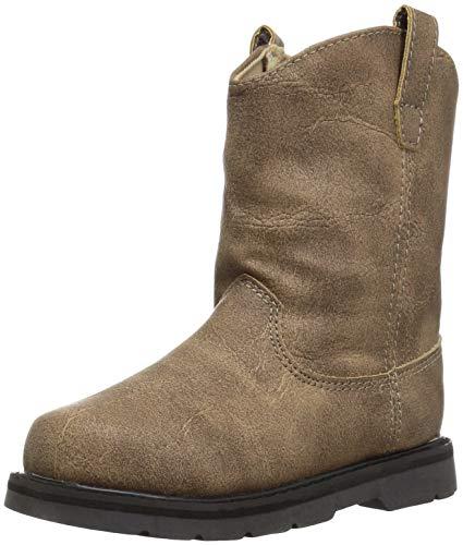 Baby Deer Boys' 02-6885 Western Boot, Brown, 4 Medium US Toddler