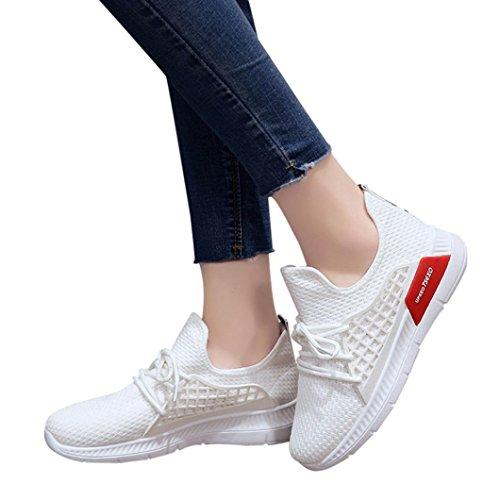 De para Color Correr Y SóLido Zapatos para Libre Atada Zapatos TriatlóN para Mujer Naturazy Zapatos Running Graceful Mujer Mujer ❤ Blanco Deportes Tela Cruz Casuales Zapatillas Gimnasia EláStica Aire nwBqxY0HR