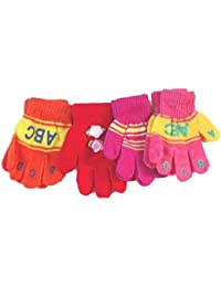 Four Pairs Bubu Magic Gloves for Infants and Toddlers Ages 1-3 Years
