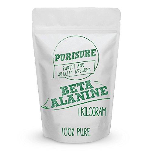 Beta Alanine Powder 1kg (1,334 Servings) - Bulk Pre Workout Nutrition - Unflavored Supplement