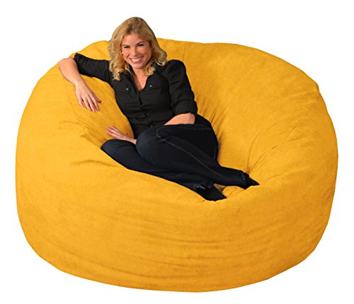 Chill Sack Bean Bag Chair: Giant 6' Memory Foam Furniture Bean Bag - Big Sofa with Soft Micro Fiber Cover, Lemon