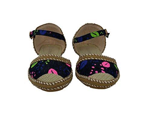 Femmes coloré ballerine Buckled chaussures plates Confort Noir 29rQEXH7FR
