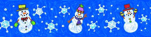 Carson Dellosa Snowmen: Kid-Drawn Borders (1496)