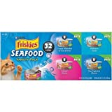 Cheap Friskies Seafood Variety Pack Cat Food 32-5.5 oz. Cans [includes 8 each: Ocean Whitefish & Tuna, Mariner's Catch, Salmon Dinner, and Sea Captain's Choice] (1 Box)