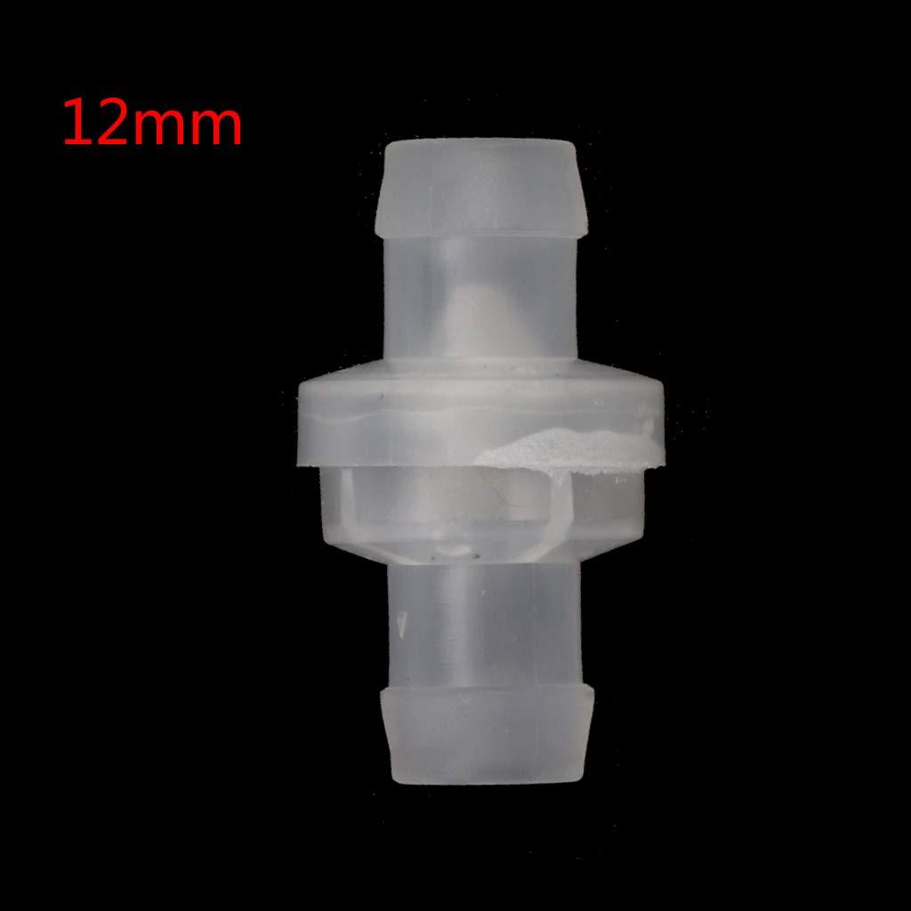 VIccoo Clapets Anti-Retour pour fluides de gaz de Carburant en Plastique /à Sens Unique Anti-Retour deau en Plastique 12MM