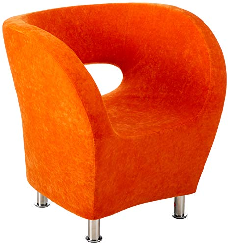 Christopher Knight Home Salazar Modern Design Accent Chair, Orange