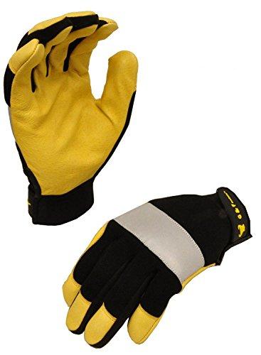 G & F 1091XL Dark Owl High Visibility Reflective Performance Mechanics Work Gloves, Driving Gloves, Men's X-Large
