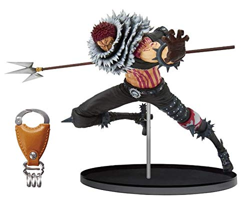 Special Original Key Ring & Banpresto World Figure Colosseum 2 Vol5 BWFC Charlotte Katakuri Figure Statue Set of 2 Toy Figure (Statue Figure Set)