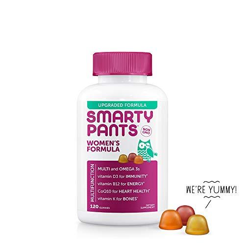 SmartyPants Women's Formula Daily Gummy Vitamins: Gluten Free, Multivitamin & Omega 3 Fish Oil (Dha/Epa), Methyl B12, vitamin D3, Vitamin B6, 120Count (20 Day Supply) - Packaging May Vary