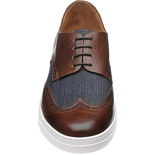 Herring  Herring Denton, Chaussures de ville à lacets pour homme marron Brown Calf and Denim