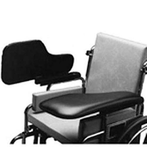 The Aftermarket Group Wheelchair Half Lap Tray, Black Padded Vinyl, Flip-Up Hardware, Left, TAG010023 from The Aftermarket Group