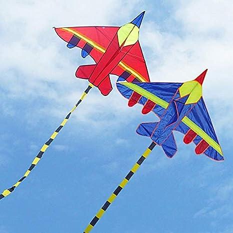 Mentin Cerf-Volant en Forme davion Rouge Cerf-Volant en Forme Avion id/éal pour Les Enfants et Les Adultes Facile /à Faire d/écoller par Vent tr/ès Fort ou par Brise l/ég/ère